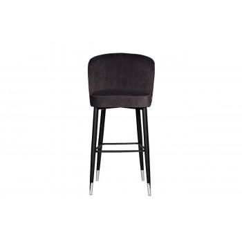 Барный стул велюр серый 30C-309W GRE