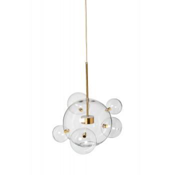Светильник потолочный Стеклянные шары Латунь 92EL-YG20074B-8W