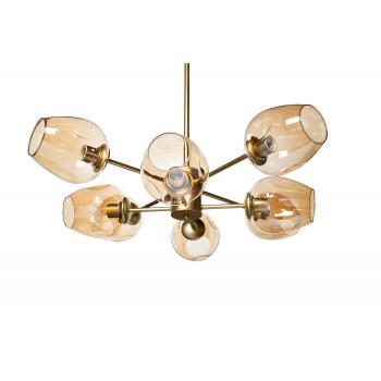 Светильник потолочный со стеклянными плафонами 92EL-YG18644-8P