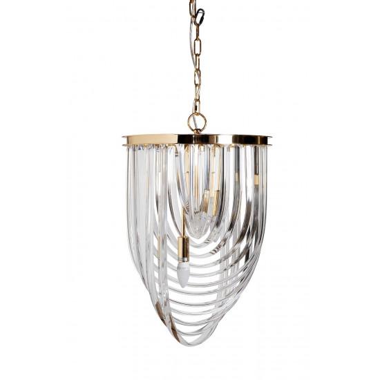 Светильник потолочный изящный стекло/золото 20MD3231-3G в интернет-магазине ROSESTAR фото