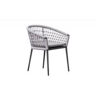 Уличное кресло с оплеткой темно-серое Муза 39AR-C288-T4