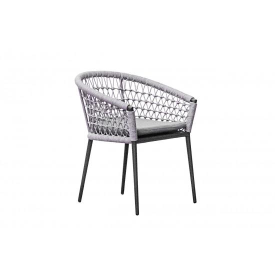 Уличное кресло с оплеткой темно-серое Муза 39AR-C288-T4 в интернет-магазине ROSESTAR фото