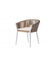 Уличное кресло с оплеткой белое Муза 39AR-C288-1