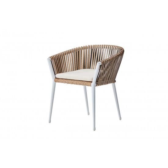 Уличное кресло с оплеткой белое Муза 39AR-C288-1 в интернет-магазине ROSESTAR фото