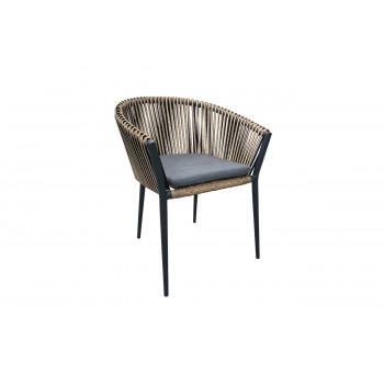 Уличное кресло с оплеткой антрацитовое Муза 39AR-C288-2
