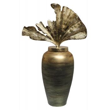 Декоративная стеклянная ваза золотисто-зеленая 71PN-5141