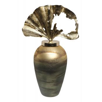 Декоративная стеклянная ваза золотисто-зеленая 71PN-5140