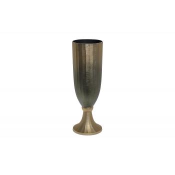 Металлическая ваза золотисто-зеленая 71PN-726-M