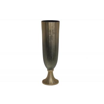 Металлическая ваза золотисто-зеленая 71PN-727-M