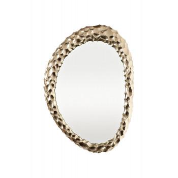 Декоративное фигурное зеркало в золотой металлической раме Ab ovo 69-216032S