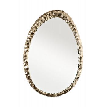 Декоративное фигурное зеркало в золотой металлической раме Ab ovo 69-216032M