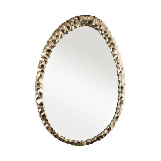 Декоративное фигурное зеркало в золотой металлической раме Ab ovo 69-216032M в интернет-магазине ROSESTAR фото