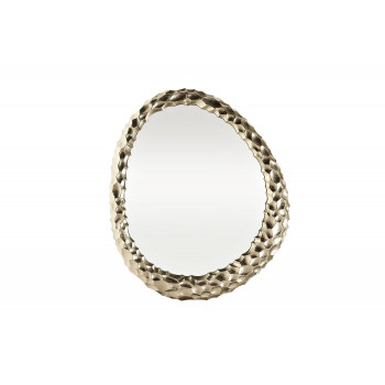 Декоративное фигурное зеркало в золотой металлической раме Ab ovo 69-216032L