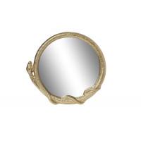 Декоративное фигурное зеркало в золотой металлической раме Змейка 94PR-21812