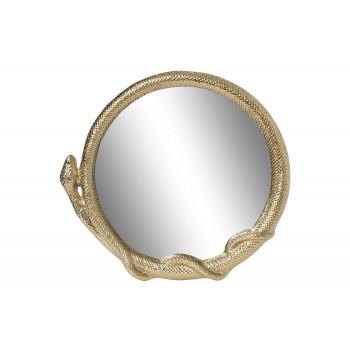 Декоративное фигурное зеркало в золотой металлической раме Змейка 78см 94PR-22502
