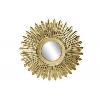 Зеркало солнце декоративное золотое 94PR-21904