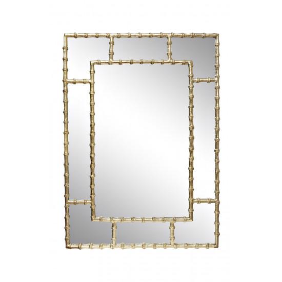 Зеркало настенное в металлической золотой раме Бамбук 94PR-22351 в интернет-магазине ROSESTAR фото