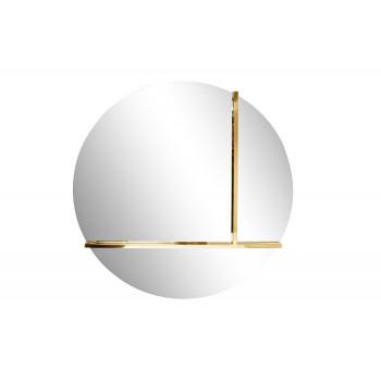 Декоративное круглое зеркало с металлическими вставками KFG096