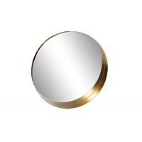 Круглое зеркало в золотой металлической объемной раме 19-OA-6276L