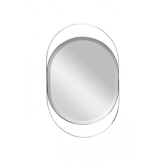 Зеркало в металлической раме золото KFG097 в интернет-магазине ROSESTAR фото