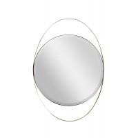 Зеркало в металлической раме золото KFG098