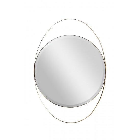 Зеркало в металлической раме золото KFG098 в интернет-магазине ROSESTAR фото