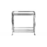 Cервировочный cтол-тележка прозрачное стекло/хром GY-CRT8164