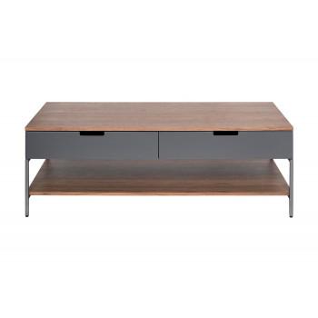 Журнальный столик серый/орех 40AD-CT388