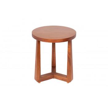 Журнальный столик из дерева круглый цвет Орех 40AD-ET016B