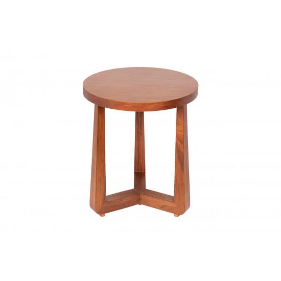 Журнальный столик из дерева круглый цвет Орех 40AD-ET016B в интернет-магазине ROSESTAR фото