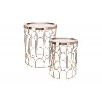 Набор из 2-х металлических журнальных столиков A79100080