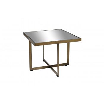 Зеркальный журнальный столик квадратный с зеркальной столешницей KFG095