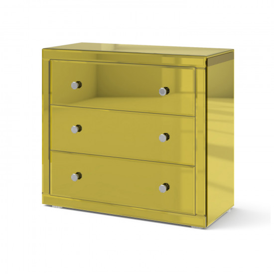 Зеркальный комод Дэйли яркое золото в интернет-магазине ROSESTAR фото