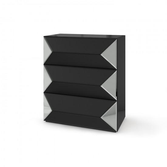 Зеркальный комод Роялти Биг черный матовый в интернет-магазине ROSESTAR фото