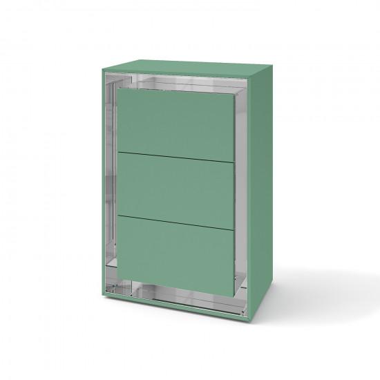 Зеркальный комод Фокус Бирюза кристал в интернет-магазине ROSESTAR фото