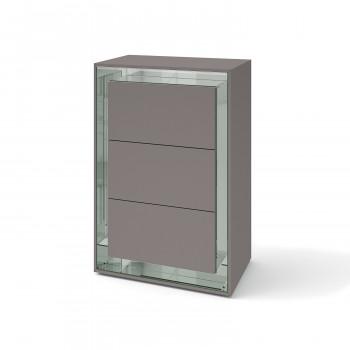 Зеркальный комод Фокус Грэй серебро