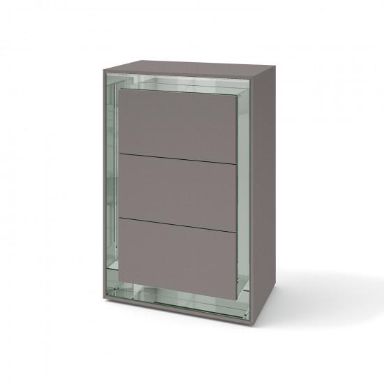 Зеркальный комод Фокус Грэй серебро в интернет-магазине ROSESTAR фото