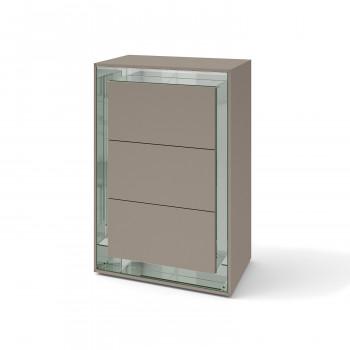 Зеркальный комод Фокус Латте серебро