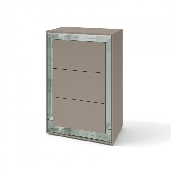 Зеркальный комод Фокус Латте серебро в интернет-магазине ROSESTAR фото