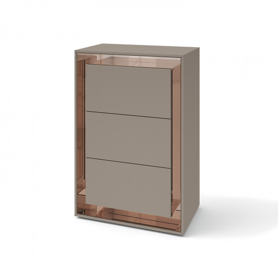 Зеркальный комод Фокус Латте розовый в интернет-магазине ROSESTAR фото