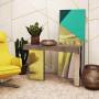 Зеркальная консоль Кинки яркое золото в интернет-магазине ROSESTAR фото 1