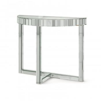 Зеркальная консоль Шарпэн серебро
