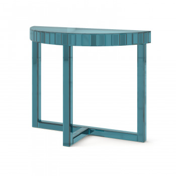 Зеркальная консоль Шарпэн синий
