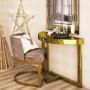 Зеркальная консоль Шарпэн яркое золото в интернет-магазине ROSESTAR фото 1