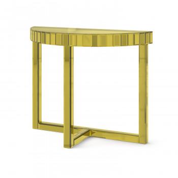 Зеркальная консоль Шарпэн яркое золото