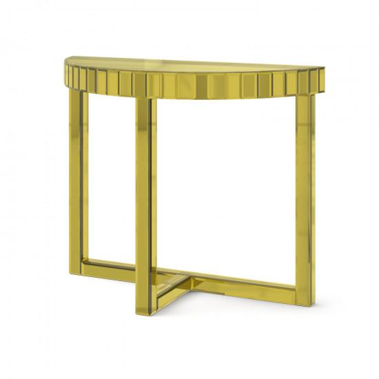 Зеркальная консоль Шарпэн яркое золото в интернет-магазине ROSESTAR фото