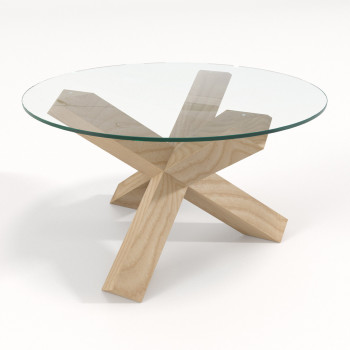 Журнальный столик со стеклом Скетч