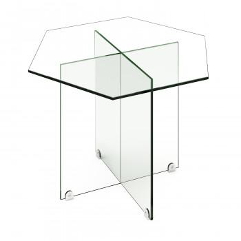 Стеклянный журнальный столик Изи