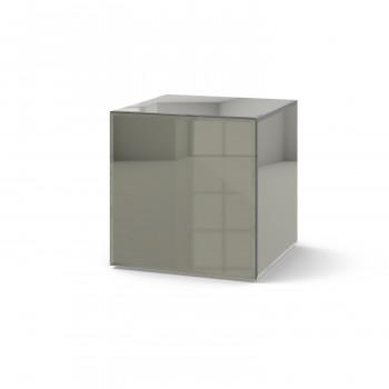 Зеркальный столик Кубби серый
