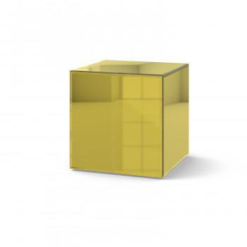 Зеркальный столик Кубби яркое золото